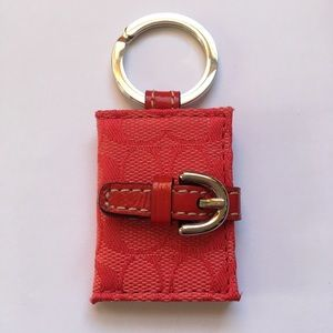 COACH red signature picture frame keychain ❤️